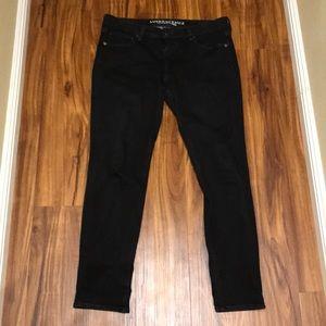 Size 12 like NEW black denim American Eagle Jeans